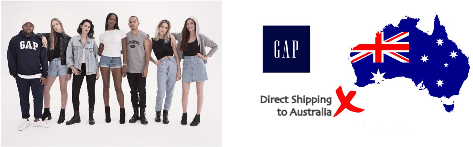 shop GAP ship to Australia